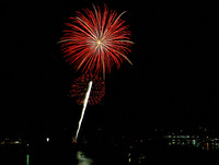 """Fireworks Over Yaquina Bay 1"""