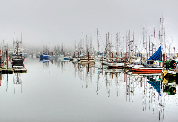 """Docks in Fog"""
